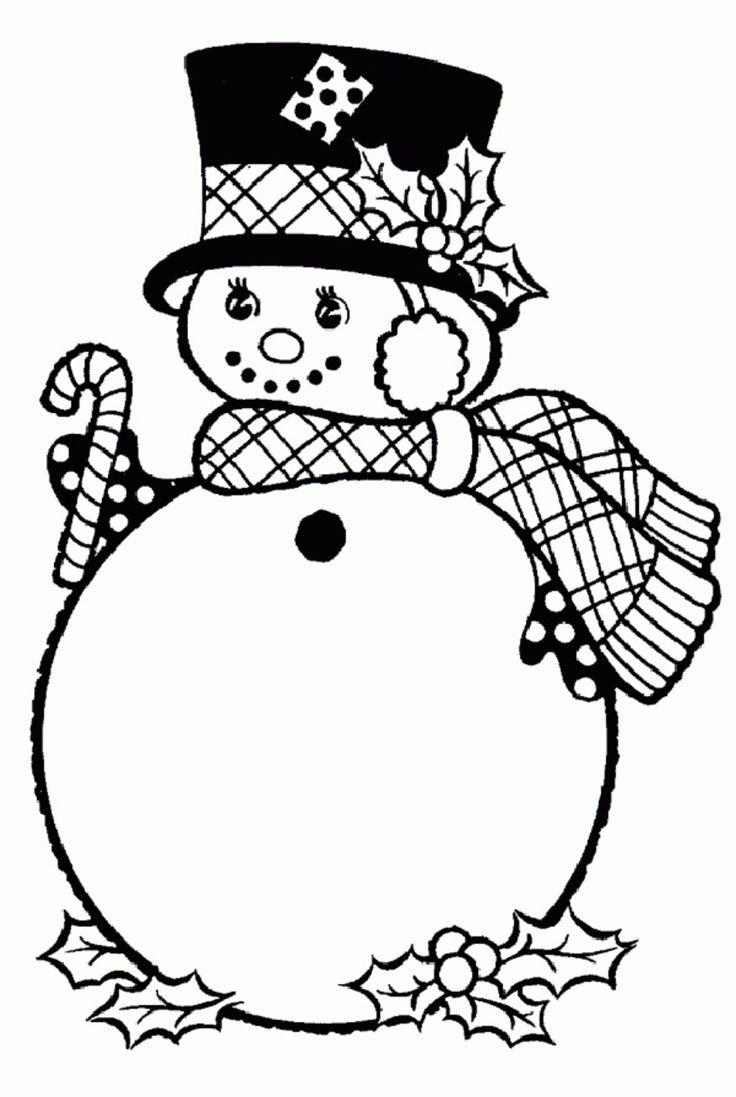 christmas girl snowman coloring pages - photo#38