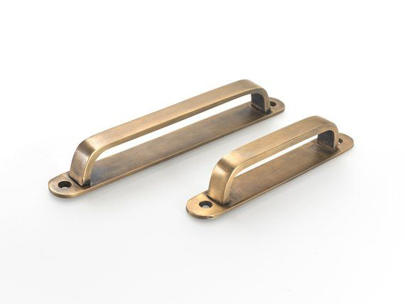 Fantastic Vintage Brass Drawer Handles Pull Handles Made Using