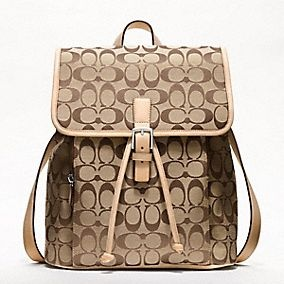 This would be great carry-on piece when traveling.  Coach Backpack