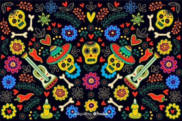 Dia De Los Muertos Badge Descargar Vectores Premium Manos Dibujo Dia De Muertos Png Decoracion Dia De Muertos