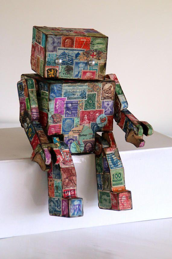 Vintage Stamp Robot