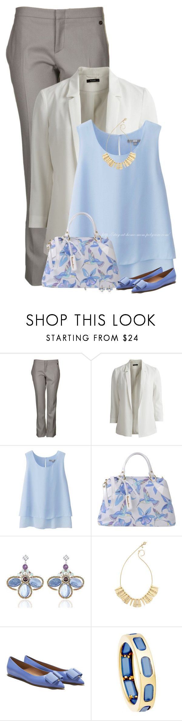 """Hummingbird/Floral Handbag"" by amber-1991 ❤ liked on Polyvore featuring Gucci, VILA, Uniqlo, Braccialini, Ziio, Madewell, Salvatore Ferragamo and Astley Clarke"