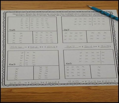 Activities for teaching the Distributive Property of Multiplication