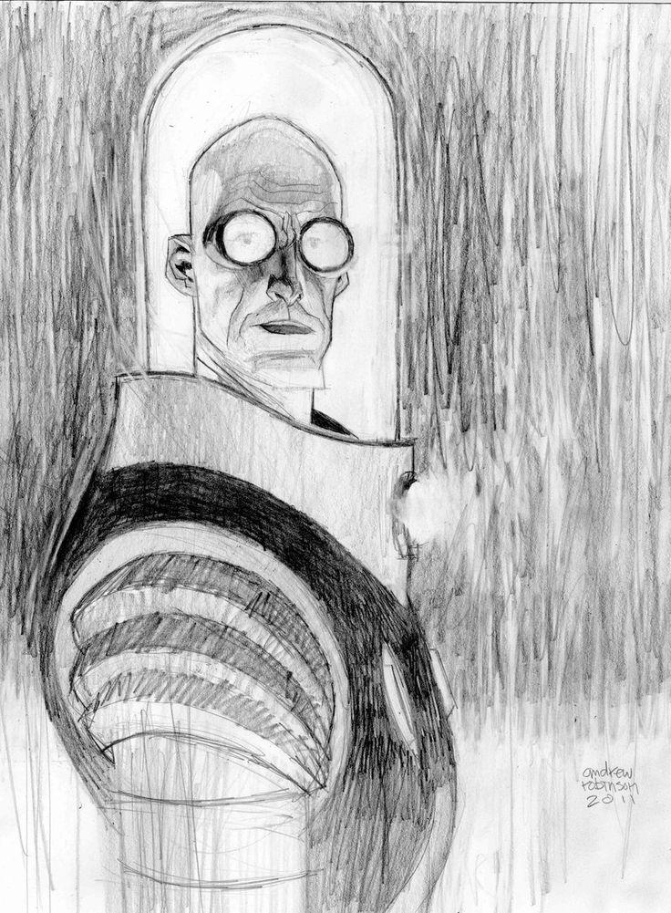 mr. freeze pencil commission by Andrew-Robinson.deviantart.com