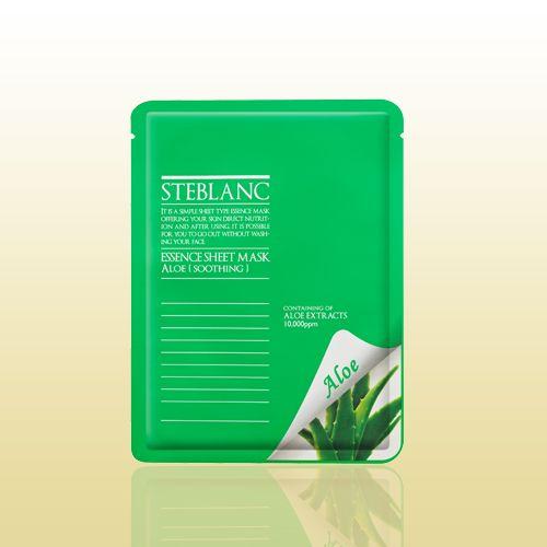 Маска для лица STEBLANC ESSENCE SHEET MASK-Aloe подойдет для воспаленной кожи. Активный компонент алое-вера обладает успокаивающим, противовоспалительный и заживляющим свойствами. Он насыщает кожу влагой, уменьшает жирность, контролирует выделением кожного жира, снижает риск возникновения прыщей. Материал маски изготовлен из волокон высокого сорта, отлично прилегает к коже, способствует быстрому впитыванию всех компонентов маски. #мужскаякрасота, #кожалица, #здоровье, #красота, #средст...
