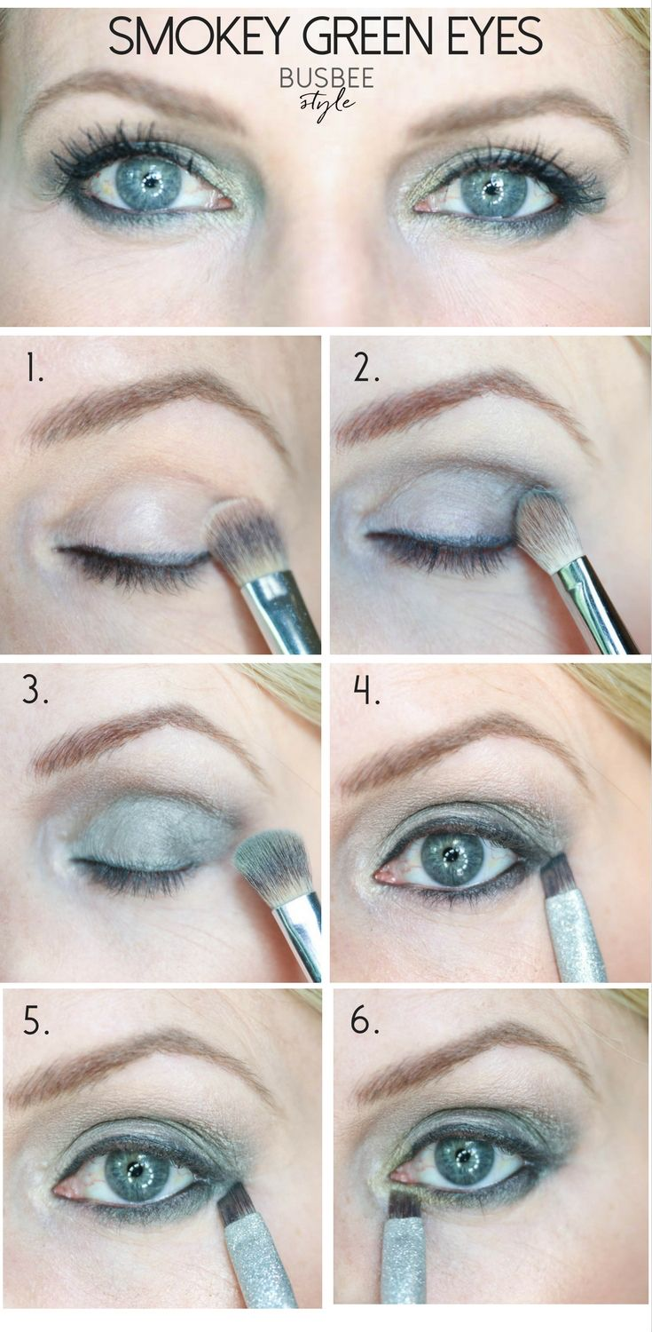 Beauty tips, makeup tips, makeup tutorial, how to create a smokey green eye look to make green and blue eyes standout, on fashion and beauty blogger over 40, erin busbee, busbeestyle.com, busbee style, the after shot, of this makeup look, before and after smokey eye makeup