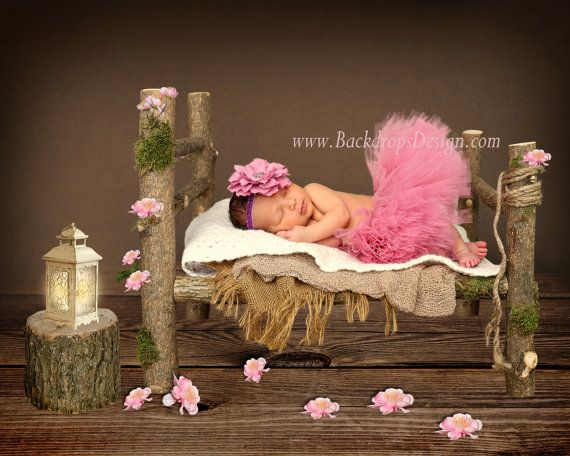 Photo Prop Log bed Newborn photography prop hand made wooden bed on Etsy, $69.95
