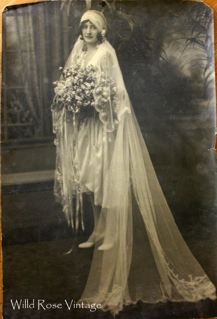 I love this! Wild Rose Vintage: 1920's Beautiful Vintage Wedding Dress AND photo of the unknown bride in the dress. Found at a yard sale.