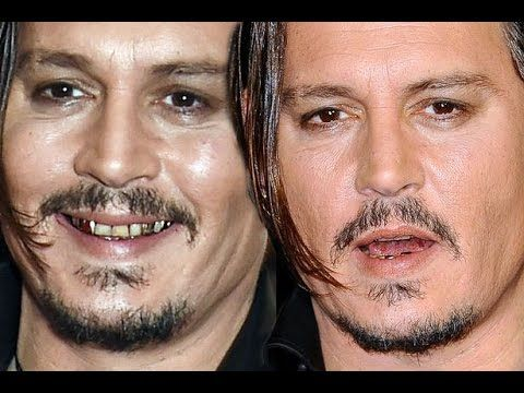 Johnny Depp flashes his gold and stained teeth after London Film Festiva...