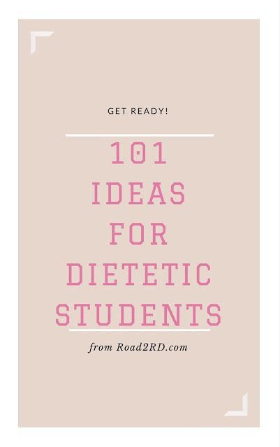 Road to RD: 101 Ideas For Dietetic Students