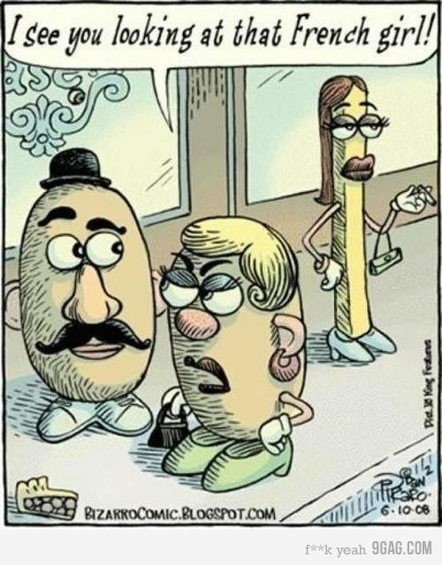 HahaFunny Image, Frenchfries, Potatoes Head, Comics Book, Funny Pictures, French Fries, French Girls, Funny Stuff, Funny Memes