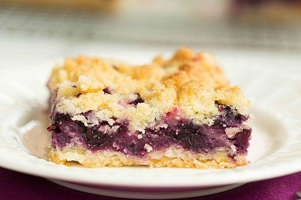 Top 10 Best Bar Recipes >> Blueberry Crumb Bars | browneyedbaker.com