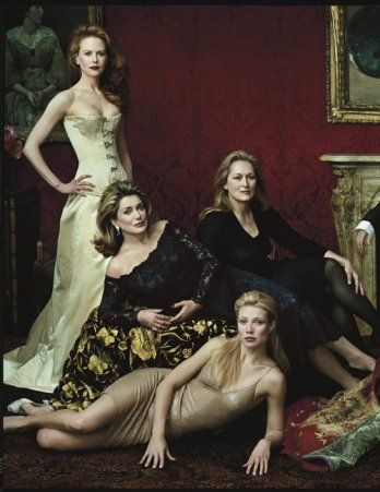 Part of the 2001 Master Class photo: Nicole Kidman, Catherine Deneuve, Meryl Streep, Gwyneth Paltrow | Annie Leibovitz #leibovitz