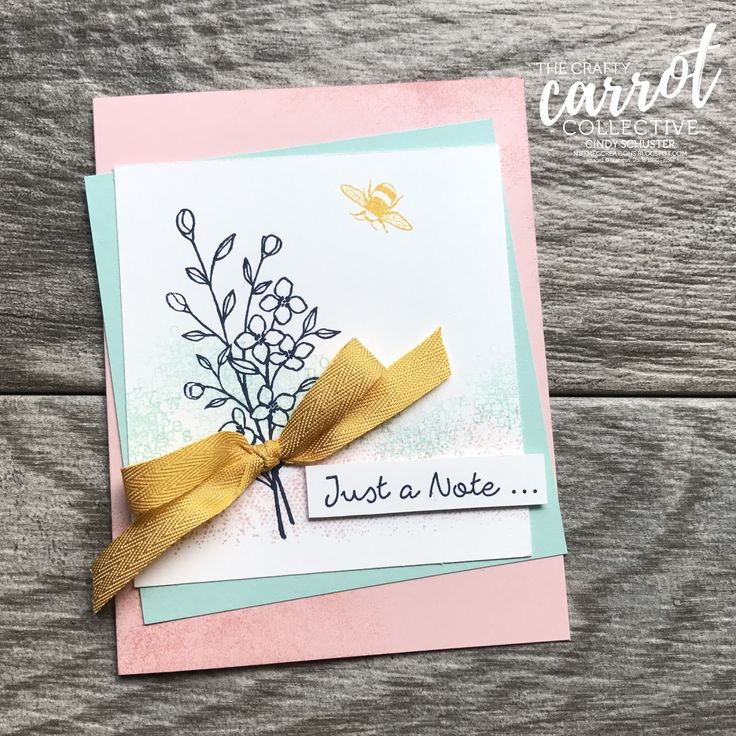 This Touches of Texture stamp set packs in a lot on a card!