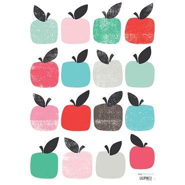 #muurstickers #wallstickers #appels #pommes #kids | lilipinso via Hippebeestjes