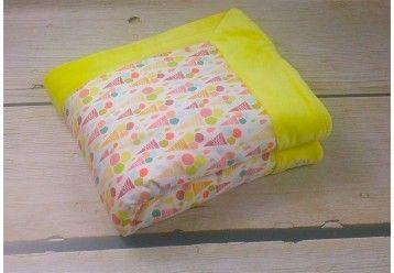 Baby Blanket Fruity ice cream - ORGANIC BAMBOO & ORGANIC COTTON