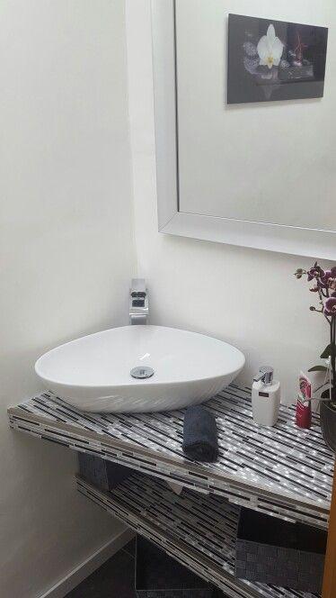Die besten 25+ Waschbecken gäste wc Ideen auf Pinterest Wc - badezimmer waschtisch mit unterschrank