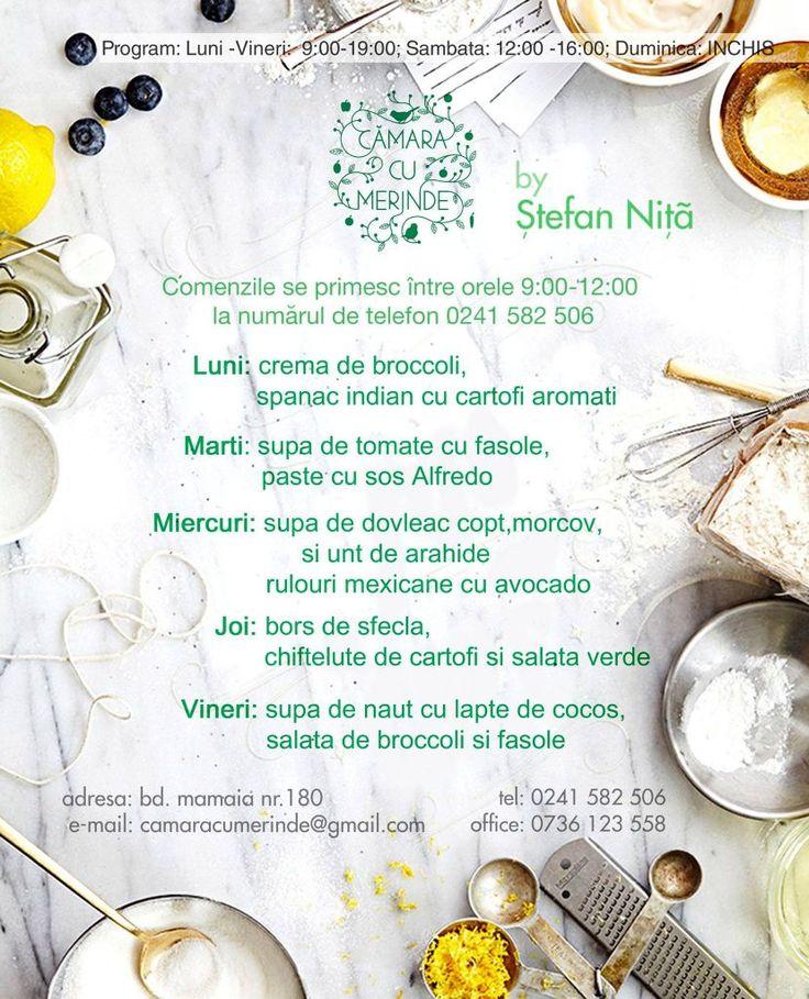 Meniul #raw #vegan al acestei saptamani la @camaracumerinde http://www.camaracumerinde.ro/meniu/