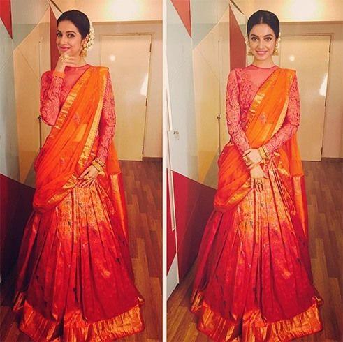 Divya Khosla Kumar in Half Saree | #NeetaLulla #FashionDesigners