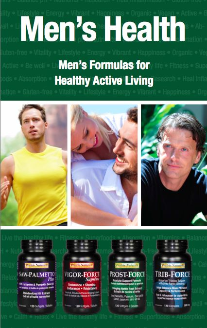 Men's Health. New labels. For more information go to www.prairienaturals.ca