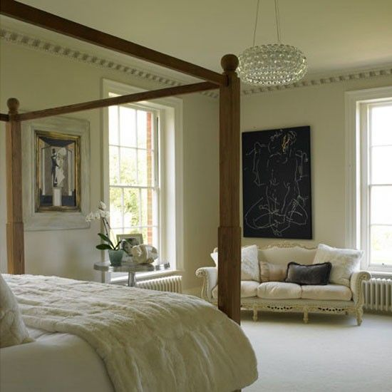 Country bedroom | Georgian restoration | Homes & Gardens house tour | PHOTO GALLERY | Housetohome.co.uk