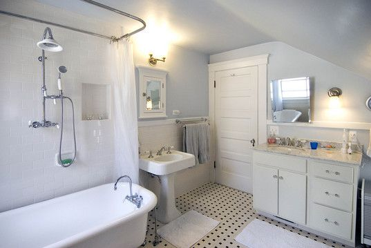 1920 craftsman bathrooms the main bath in julie and ran for Main bathroom remodel ideas