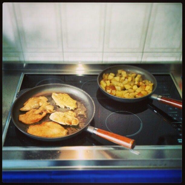 fettine panate & patate erborinate