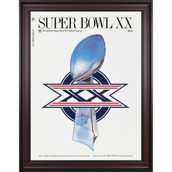 "Fanatics Authentic 1986 Bears vs. Patriots Framed 36"" x 48"" Canvas Super Bowl XX Program - $299.99"