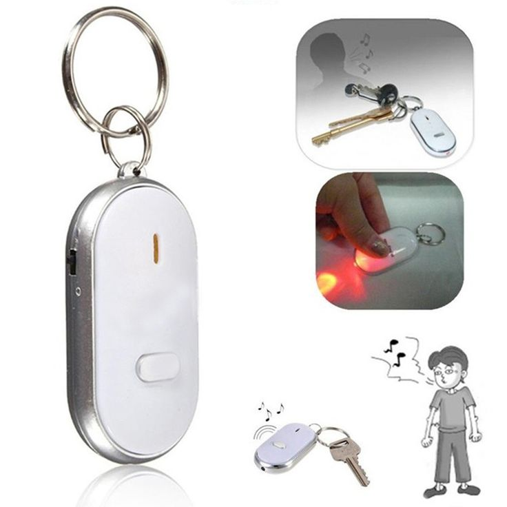 2016 New LED Anti-Lost Key Finder Find Locator Keychain Whistle Beep Sound Control Torch Free shipping