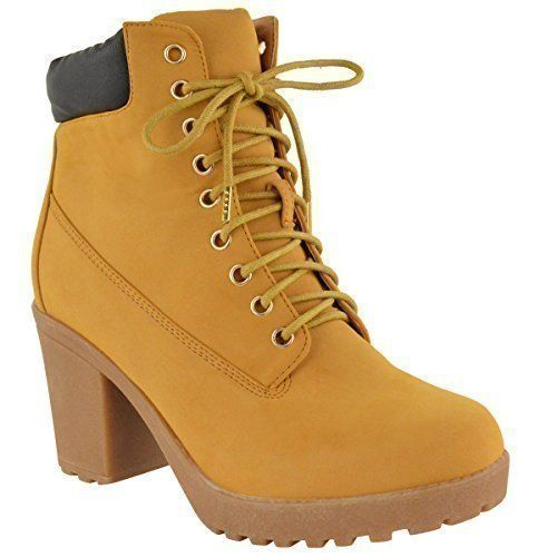 LADIES WOMENS FLAT ANKLE BOOTS LACE UP CASUAL WALKING COMBAT GRIP SHOES SIZE: Amazon.co.uk: Shoes & Bags