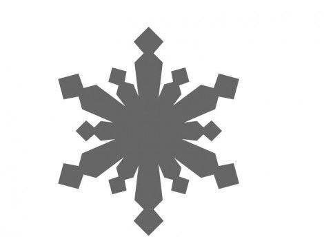 Whimsical Snowflake Craft Shape