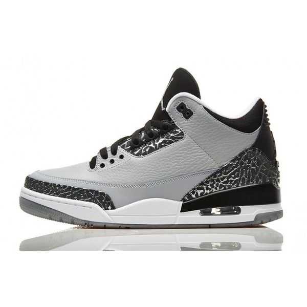 more photos b2888 fb90a ... shop air jordan 3 retro wolf grey release details liked on polyvore  featuring shoes 671a9 d6c13