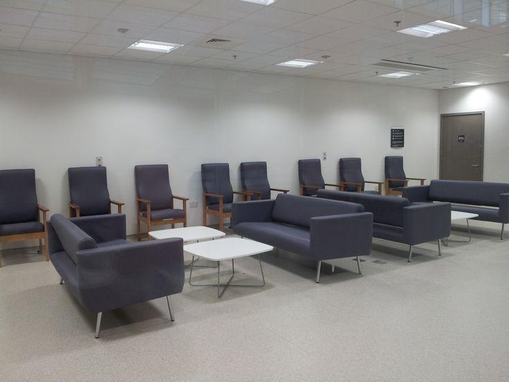 The departure lounge of the new Royal London Hospital Whitechapel London