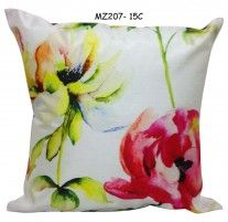Painted floral cushion cover MZ 207- 15C