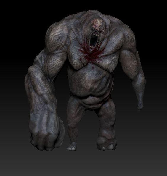 Zombie Gunship: 3D Model of Big Zombie: