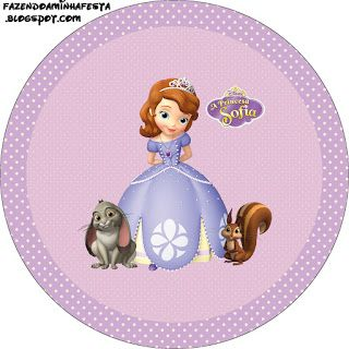 Sofia Princess Disney - Full Kit with frames for invitations, labels for goodies, souvenirs and pictures!   Making Our Party