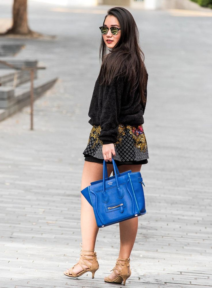 Vintage Skirt+Celine Bag  Outfit of the day fashion streetstyle