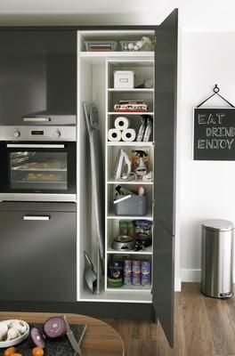 Extra Tall Tower Unit with Bespoke Storage Unit grey cupboards Howdens & 21 best Kitchen Ideas images on Pinterest | Kitchen ideas Extension ...