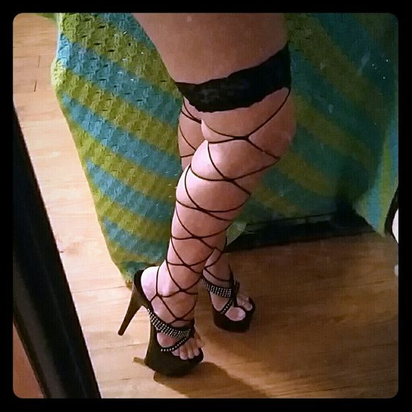 Knee high stockings Wide fishnet like knee highs. Perfect conditon. Worn once. Other