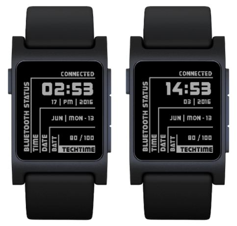 TechTime  Pebble Watch App ~ Inspired for the Technology Field