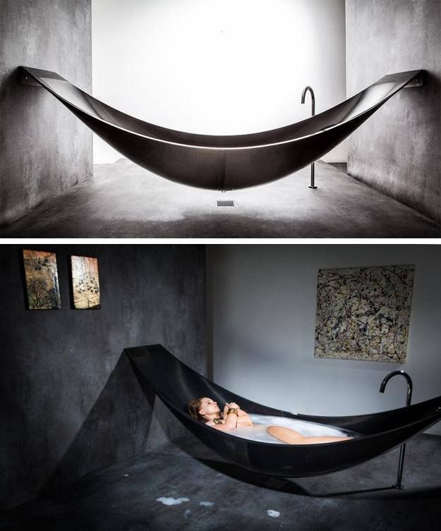 Hammock bathtub... Basically the coolest thing I've ever seen