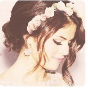 Flower headband. her hair is PER-fect