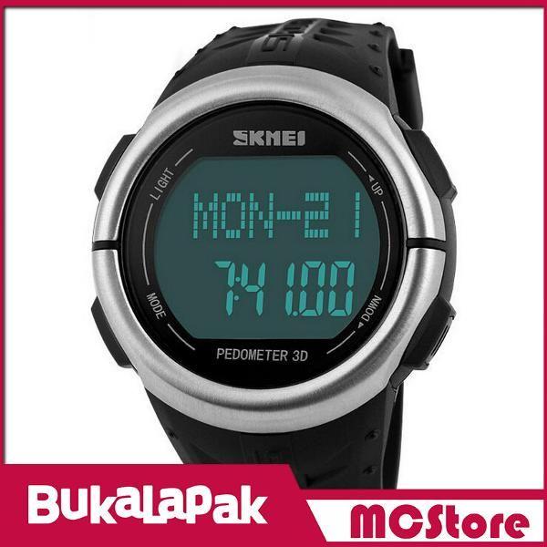 Beli MCStore Jam Tangan SKMEI Sport Watch Pedometer Heart Rate Tracking Water Resistant - DG1058HR1 - Black dari MCStore habibwaldani - Jakarta Barat hanya di Bukalapak