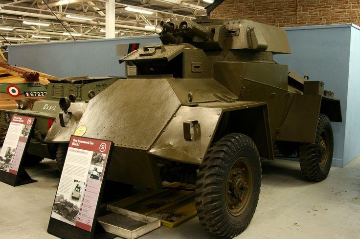 https://flic.kr/p/8GXH3U   The Tank Museum, Bovington - WW2 1938 British Guy Armoured Car Mk 1