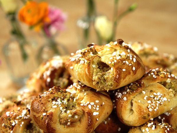 Karlsbaderbullar med pistagekräm