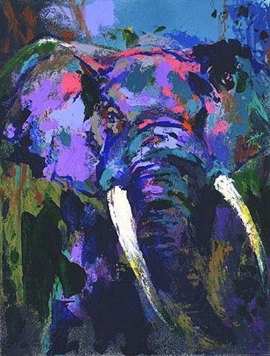Leroy Neiman - Portrait of the Elephant