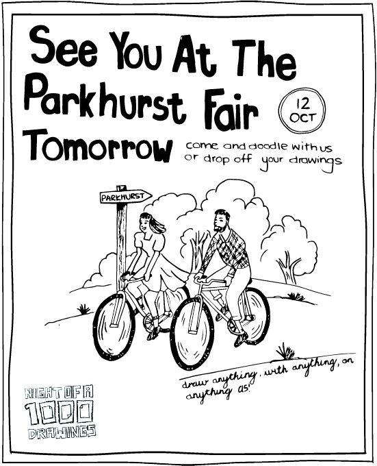 Doodle at The Parkhurst Fair #1000Drawings #doodle