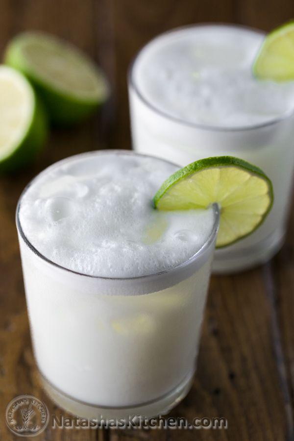 Brazilian Lemonade: lime, sugar, water, sweetened condensed milk.