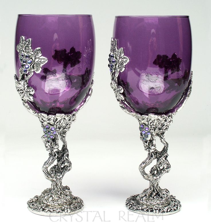 Purple Crystal Vines Toasting Glass or Communion Cup ...