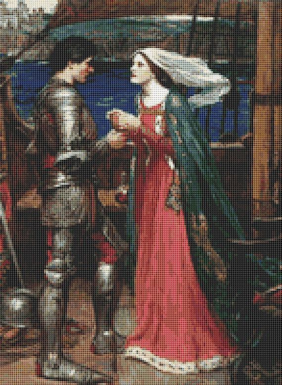 Tristan And Isolde Cross Stitch Pattern by Mydreamsofavalon, $6.00